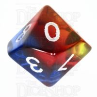 TDSO Layer Transparent Burning Sand D10 Dice