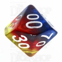 TDSO Layer Transparent Burning Sand Percentile Dice
