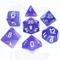 TDSO Galaxy Glitter Blue & Purple 7 Dice Polyset
