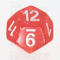 TDSO Galaxy Glitter Red & Yellow D12 Dice