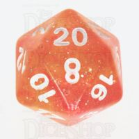 TDSO Galaxy Glitter Red & Yellow D20 Dice