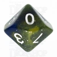TDSO Galaxy Glitter Blue & Yellow D10 Dice