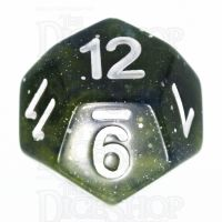 TDSO Galaxy Glitter Blue & Yellow D12 Dice