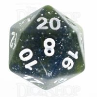 TDSO Galaxy Glitter Blue & Yellow D20 Dice