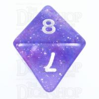 TDSO Galaxy Glitter Blue & Purple D8 Dice