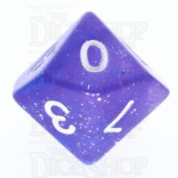 TDSO Galaxy Glitter Blue & Purple D10 Dice