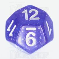 TDSO Galaxy Glitter Blue & Purple D12 Dice