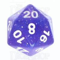 TDSO Galaxy Glitter Blue & Purple D20 Dice