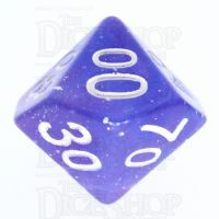 TDSO Galaxy Glitter Blue & Purple Percentile Dice
