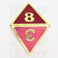 TDSO Metal Fire Forge Gold & Rose Glow In The Dark D8 Dice