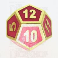 TDSO Metal Fire Forge Gold & Rose Glow In The Dark D12 Dice