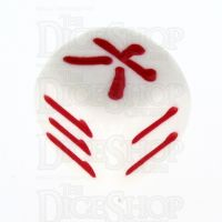 Koplow Opaque White Chinese & Japanese Number D6 Dice