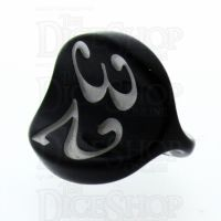 Impact Opaque Black & White Apple Core D3 Dice