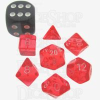 TDSO Bright Gem Ruby MINI 10mm 7 Dice Polyset