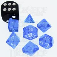 TDSO Bright Gem Sapphire MINI 10mm 7 Dice Polyset