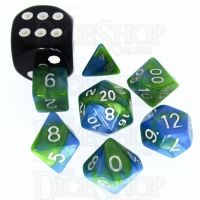 TDSO Duel Turquoise Blue & Pistachio Green MINI 10mm 7 Dice Polyset