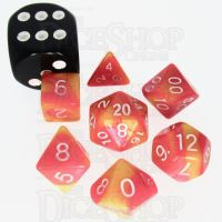 TDSO Duel Rose & Saffron Yellow MINI 10mm 7 Dice Polyset