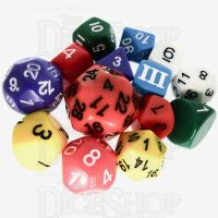 Impact Dungeon Crawl Classics DCC Opaque Rainbow Multi Colour 14 Dice Set