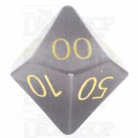 TDSO Cats Eye Grey with Engraved Numbers 16mm Precious Gem Percentile Dice