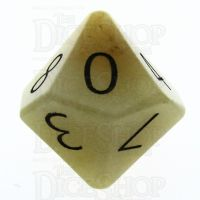 TDSO Jade Yellow with Engraved Numbers 16mm Precious Gem D10 Dice