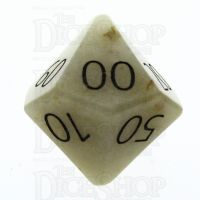 TDSO Jade Yellow with Engraved Numbers 16mm Precious Gem Percentile Dice