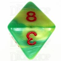 TDSO Duel Green & Yellow With Red D8 Dice - Discontinued