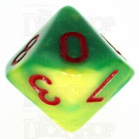 TDSO Duel Green & Yellow With Red D10 Dice - Discontinued