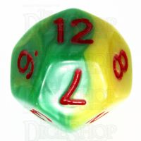 TDSO Duel Green & Yellow With Red D12 Dice - Discontinued
