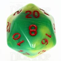 TDSO Duel Green & Yellow With Red D20 Dice - Discontinued