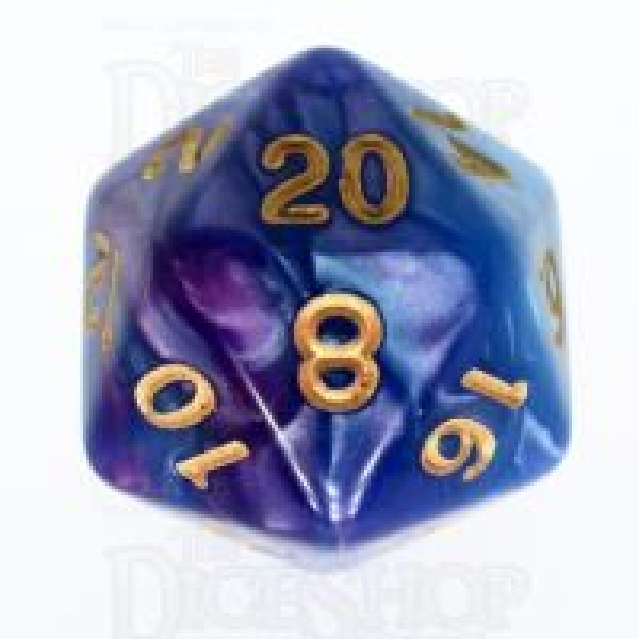 TDSO Duel Purple & Teal D20 Dice