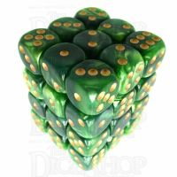 TDSO Duel Dark Green & Pearl Light Green 36 x D6 Dice Set