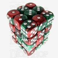 TDSO Duel Green & Red 36 x D6 Dice Set