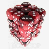 TDSO Duel Black & Red With White 36 x D6 Dice Set