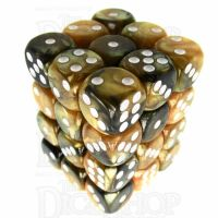 TDSO Duel Black & Gold With White 36 x D6 Dice Set