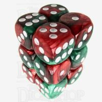 TDSO Duel Green & Red 12 x D6 Dice Set