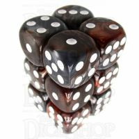 TDSO Duel Copper & Steel 12 x D6 Dice Set