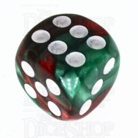 TDSO Duel Green & Red 16mm D6 Spot Dice