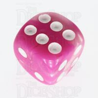 TDSO Duel Pink & Pearl White 16mm D6 Spot Dice