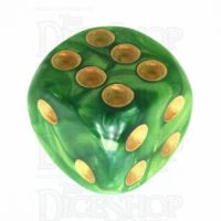 TDSO Duel Dark Green & Pearl Light Green 16mm D6 Spot Dice
