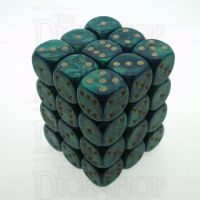 D&G Interferenz Green 36 x D6 Dice Set