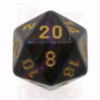 Chessex Lustrous Shadow D20 Dice