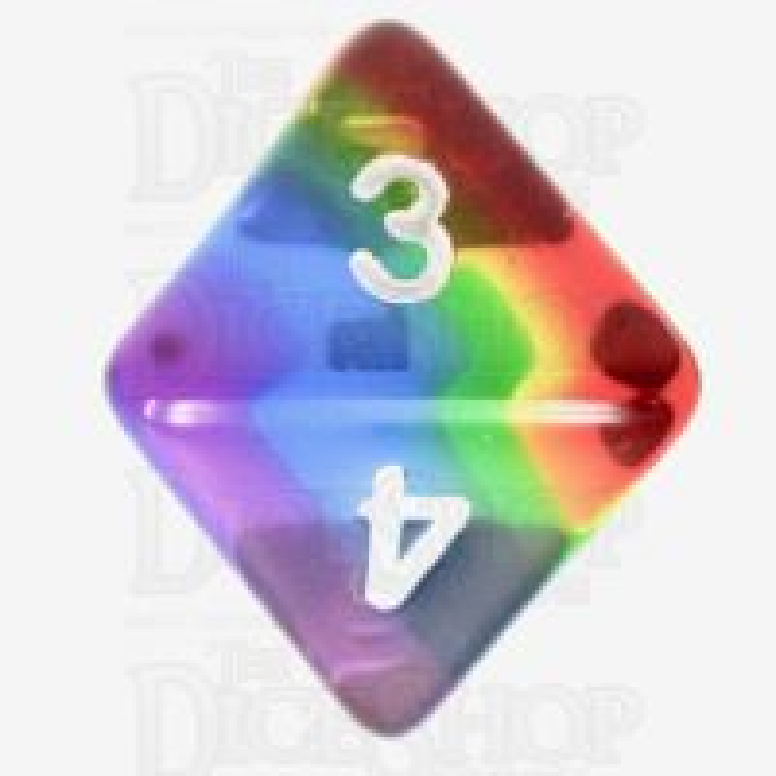 TDSO Layer Transparent Rainbow D8 Dice