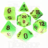 TDSO Duel Pearl Green & Yellow 7 Dice Polyset - Discontinued