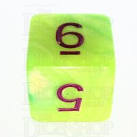 TDSO Duel Pearl Green & Yellow D6 Dice - Discontinued