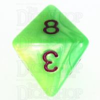 TDSO Duel Pearl Green & Yellow D8 Dice - Discontinued
