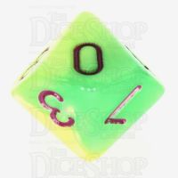 TDSO Duel Pearl Green & Yellow  D10 Dice - Discontinued