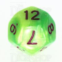 TDSO Duel Pearl Green & Yellow D12 Dice - Discontinued
