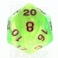 TDSO Duel Pearl Green & Yellow D20 Dice - Discontinued