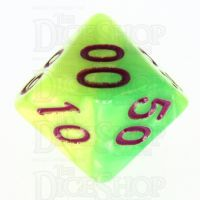 TDSO Duel Pearl Green & Yellow Percentile Dice - Discontinued