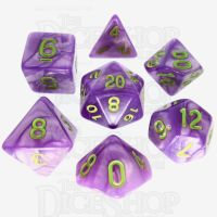 TDSO Pearl Light Purple & Green 7 Dice Polyset
